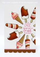 SSS Ice Cream Dream Card by Mendi Yoshikawa