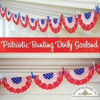 A Doodlebug Patriotic Doily Bunting by Mendi Yoshikawa