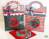 Pebbles Inc. Americana Patriotic Treat Bags by Mendi Yoshikawa