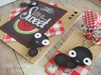 Ants Picnic card and matchng tag