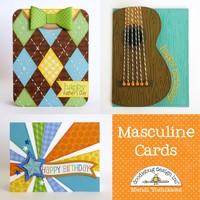 Doodlebug Masculine Cards by Mendi Yoshikawa