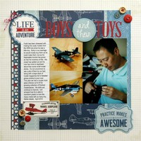 Echo Park Jack & Jill Boy Layout by Mendi Yoshikawa