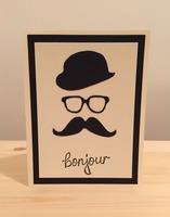Bonjour Moustache Card