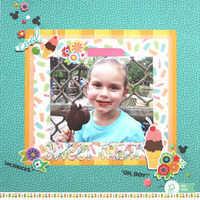Disney Project Life Album - Sweet Treat layout with a Pocket Page *Pebbles*