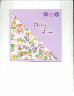 Thinking of you card-Fast Scrap Extra