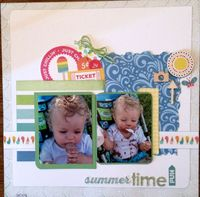 summertime fun (July 2015 Becky Fleck Sketch #99 and Title Challenges)