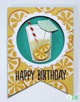 Lemonade Banner Shaped Birthday Card *Pebbles*