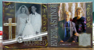 50th anniversary altered canvas