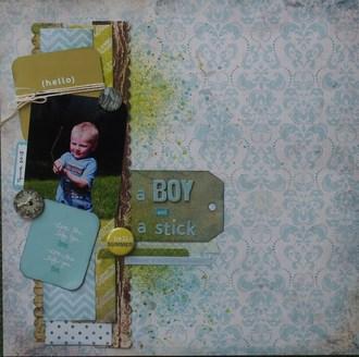 A Boy and a Stick