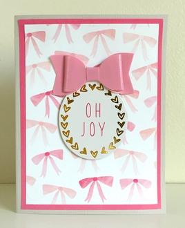 Oh Joy Bow Card
