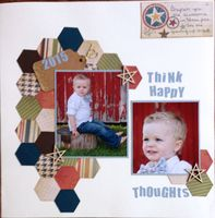 ThiNk HaPpY ThOuGHts (Sept. 2015 Scraplift the Guest Designer and Title Challeng