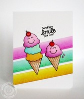 Sunny Studio Birthday Smiles Card by Mendi Yoshikawa