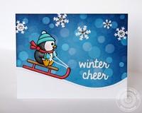 Sunny Studio Snow Kissed Card by Mendi Yoshikawa
