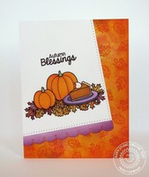 Sunny Studio Harvest Happiness Card by Mendi Yoshikawa