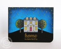Sunny Studio Happy Home card by Mendi Yoshikawa