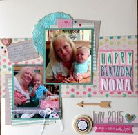 Happy Birthday Nona (Sept. 2015 Washi Challenge)
