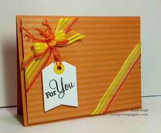 Orange for you card