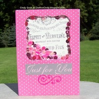 Shaker card in Pink