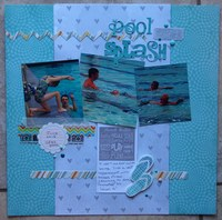 Pool Splash/ Becky Fleck #105 challenge