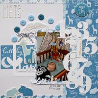 Baby layout - Imaginisce