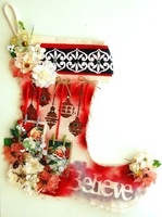 Believe Christmas Stocking