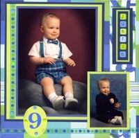 Justin 9 mos old (left and right)