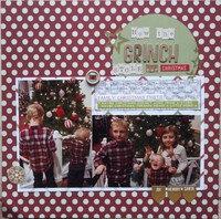 How the Grinch Stole our Christmas/ Jan Layout #17