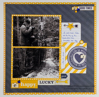 Happy Lucky You Scrapbook Layout