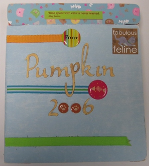 Pumpkin - Mini Book Push and Pull