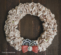 Ruffly Romantic-ish Wreath