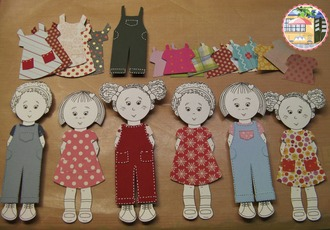 Paper Dolls and outfits