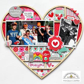 Doodlebug Sweet Things Heart