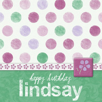 Birthday Card for Lindsay