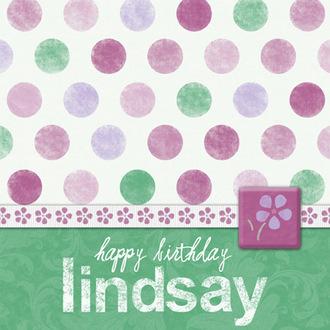 Birthday Card for Lindsay