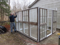 My salvaged window greenhouse.