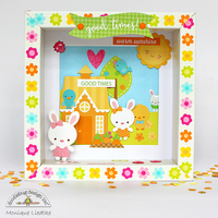 Doodlebug Bunnyville Shadow Box