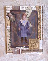 Note Card Vintage Girl