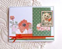 Cat Stamp Card