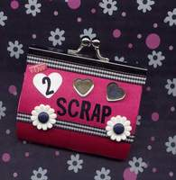 Love To Scrap Altered Change Purse