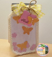 Clear Cardstock for front of Jar Card
