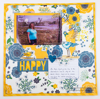 Using large elements on a scrapbook layout