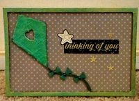 Mixed Media Spring Chipboard Card