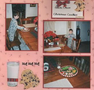 Santa Cookies 2003