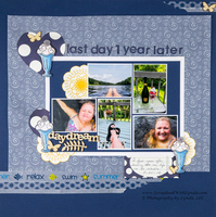Handmade Collage on a Scrapbook Layout