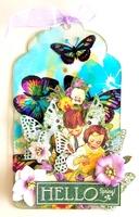 Hello Spring Acrylic Tag