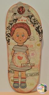 Elisha Jean Flip Flop Card