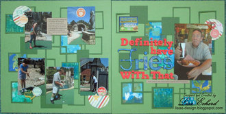 2 Pager with Die Cut Background