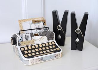 Carta Bella Old World Travel Typewriter