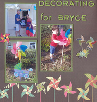 Decorating for Bryce