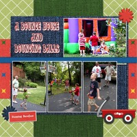 A Bounce House and Bouncing Balls